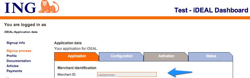 iDeal Merchant ID